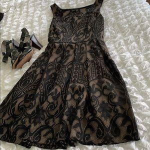 Eva Franco Black Lace A-line dress.  SZ 8